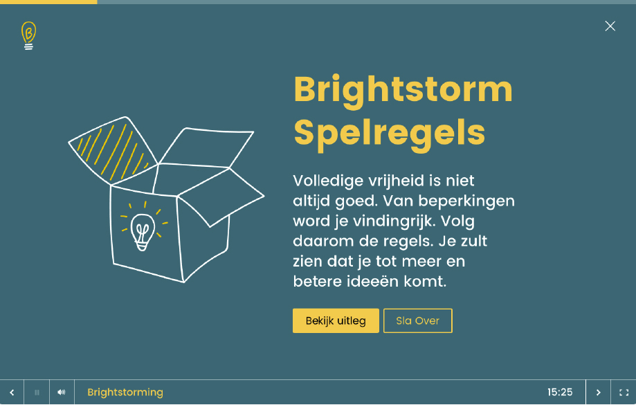 Brightstorming - digitale facilitator